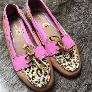 Sperry Top Sider Leather Animal Print Loafer Shoes